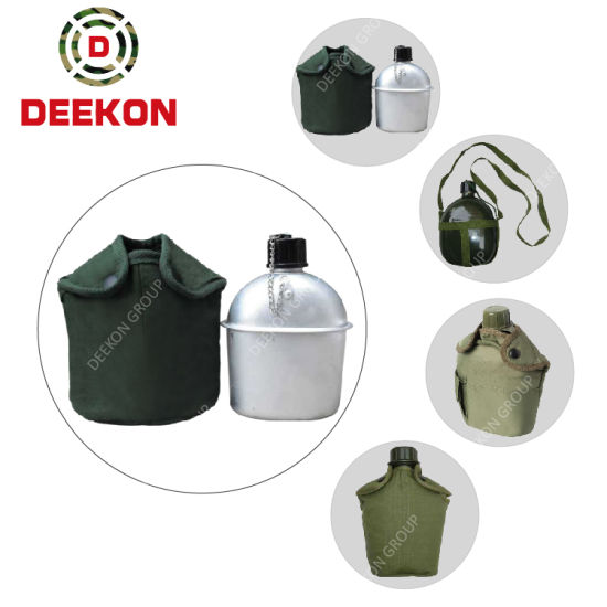 Aluminum Army Military Canteen Drinking Mlitary Canteen Water Bottle