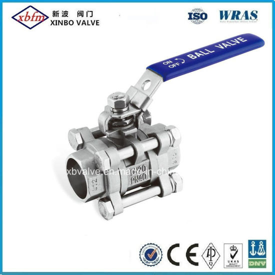 Socket Weld Satinless Steel Ball Valve Withiso pictures & photos