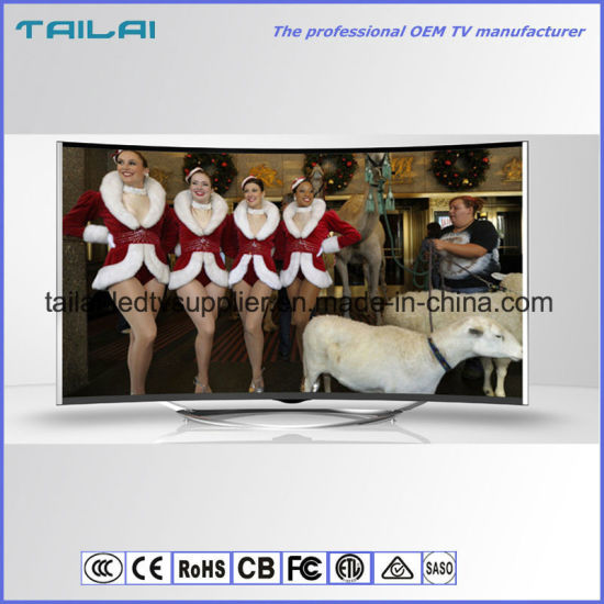 """49"""" UHD 4K Curved LED TV with DVB-T/T2/S2 Digital Tuner Optical Faber"""