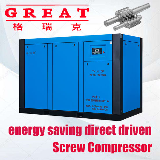 Leading Manufacture for Electric AC Power Oil Injected Industrial Rotary Twinscrew Air Compressor (5.5kw--630kw) 7/8/10/13 Bar on Sale Online