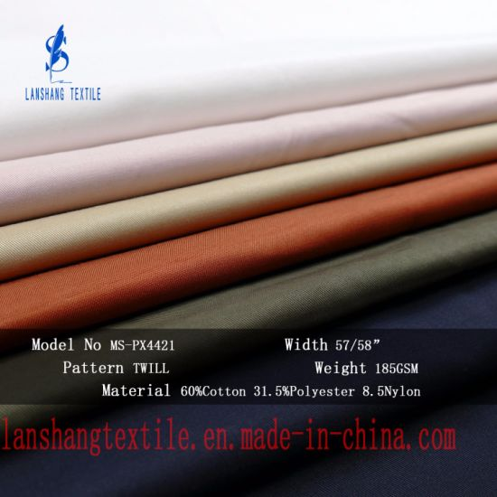 65%Cotton 31.5%Polyester 8.5%Nylon Blending Fabric for Clothes Coat pictures & photos