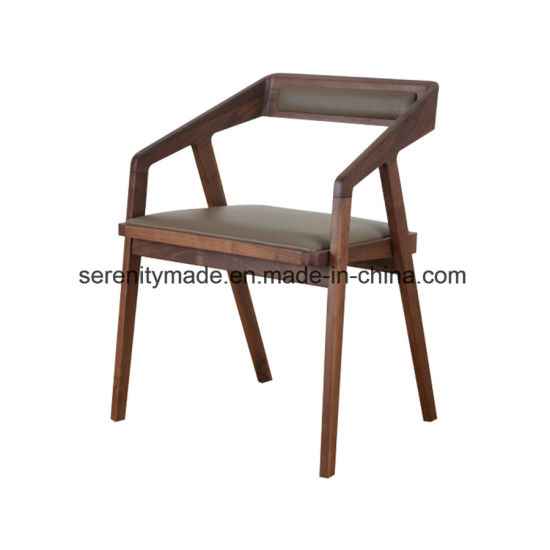 Restaurant Furniture Padded Seat Wooden Dining Chair