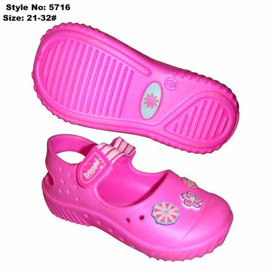 a483a3635c China EVA Girl Kid Sandal with Charm