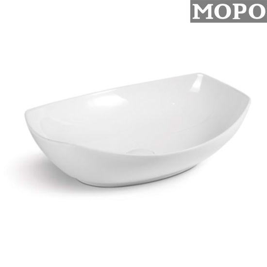 White Color Bathroom Accessories Wash Hand Ceramic Basin