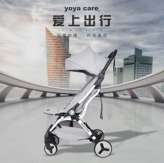 Hot Sale Aluminum Alloy Comfortable Baby Stroller Yoya Care Future, One Hand Fold