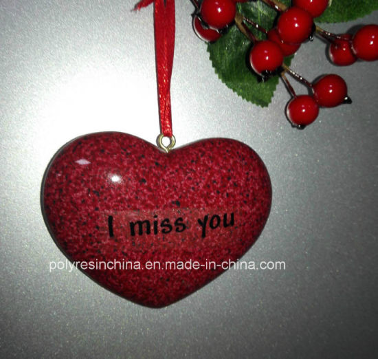 china personalized memorial heart shape stone christmas tree