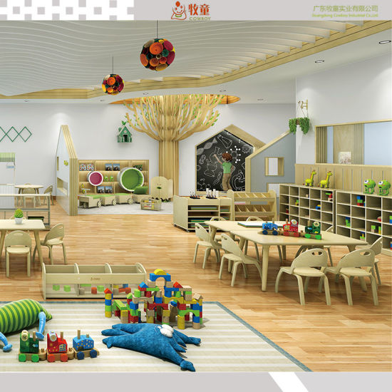 Popular Easily Installed Kindergarten Nursery Children Furniture Set