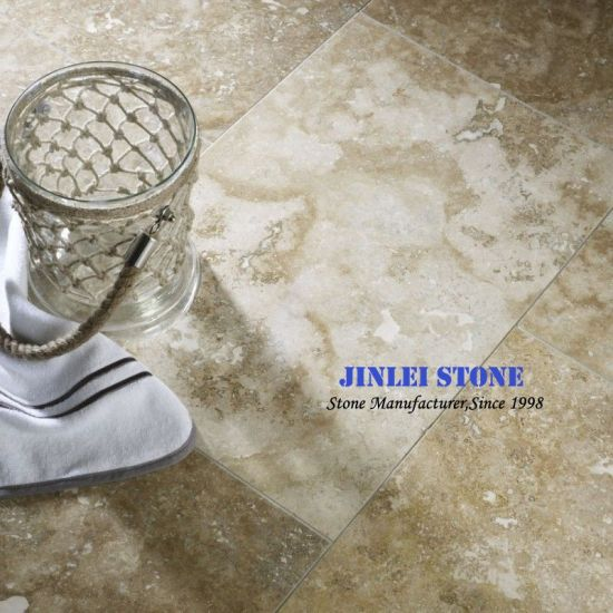 Natural Stone Beige Stones Travertine Marble Bathroom Wall Tile for Interior and Exterior