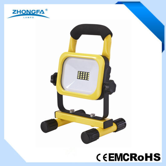 10W SMD Rechargeable LED Work Light with Lithium Battery