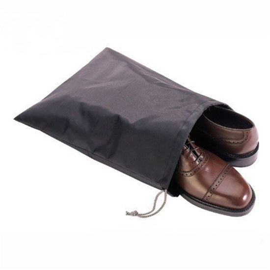 Custom Logo Printing Promotional Cheap Polyester Drawstring Shoe Bags pictures & photos