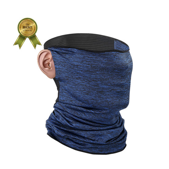 Neck Gaiter Multifunctional Headwear Headbands Bandana with Earloop Anti-UV Washable Face Scarf Plain Color