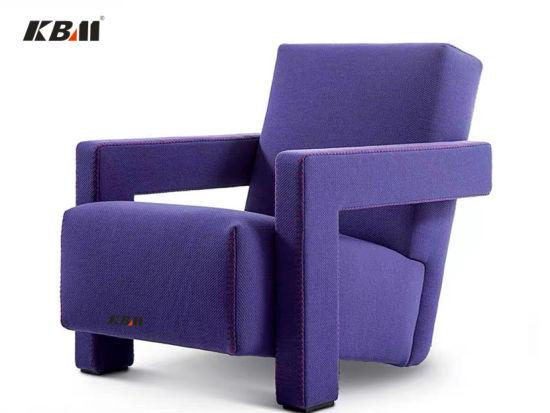 Modern Nordic Style 7-Shaped Single Seat Fabric Leather Designer Sofa Armchair