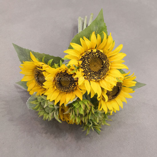China Lifelike Faux Flower Bouquet Home Decoration Artificial Sunflower Flower For Sale China Artificial Sunflower Flower And Artificial Flower Price