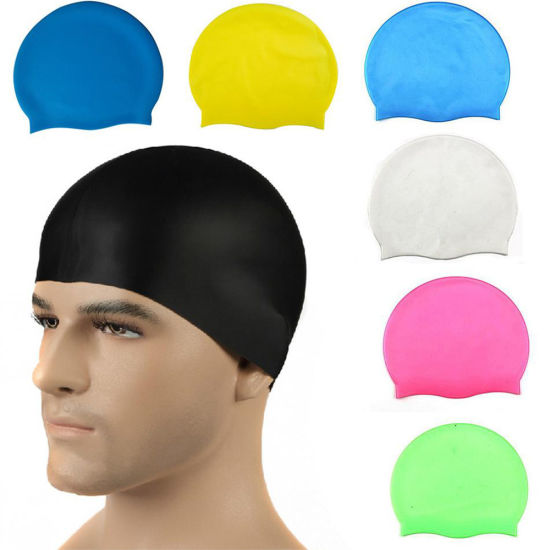 bccb6dd545e Fashionable Custom Logo Printed Anti-Bacterial Windproof Breathable Quick  Dry Funny Swimming Hats Caps Soft PVC Silicone Latex Lycra Polyester Nylon  Swim ...