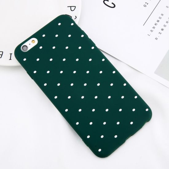 Cute Dots Phone Case Wine Red Mobile Phone Case for iPhone X 8 7 6 6s Plus