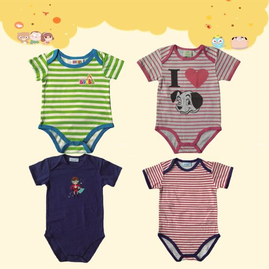 100% Cotton Rib Envelop-Neck Baby Body pictures & photos