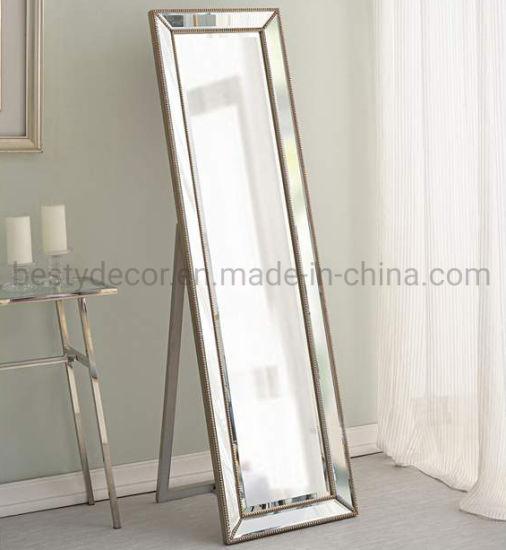 European Modern Beaded Dressing Mirror Frame for Home Decoration