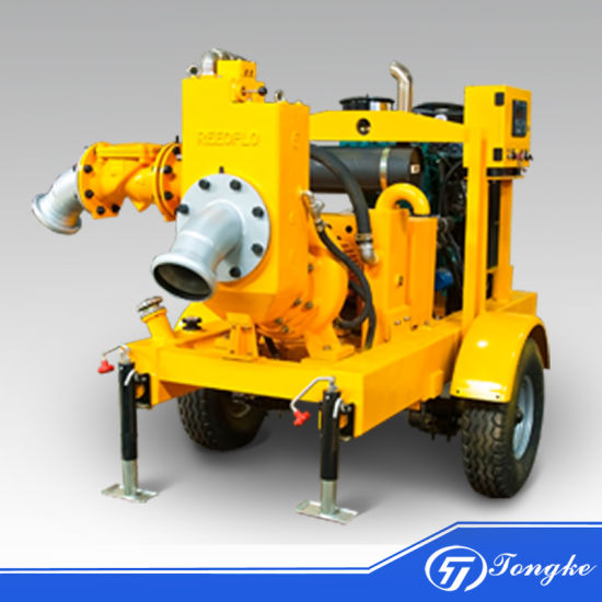 Two/Four Wheels Movable Emergency Flood Control Diesel Engine Self-Priming Water Pump (DN100, DN150, DN200, DN250, DN300)
