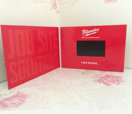 High Quality LCD Display 4.3 Inch Perfume LED Video Screen Card LCD Christmas Greeting Card