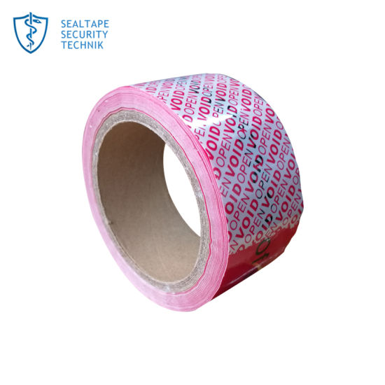 Tamper Evident Adhesive Anti-Fake Anti Counterfeiting Non Transfer Void Open Seal Security Tape pictures & photos
