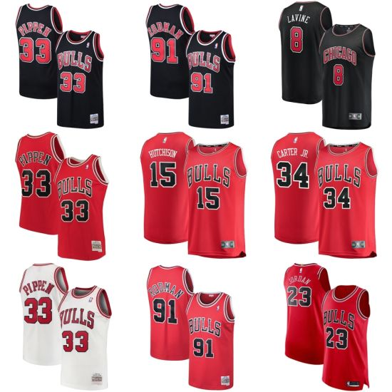 the best attitude fc232 6167c Chicago Bulls Scottie Pippen Mitchell & Ness Black Classics Swingman  Basketball Jerseys