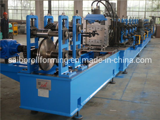 High Speed 40-50m/Min Solar Roll Forming Machine with Wire-Electrode Cutting Stronge Structure