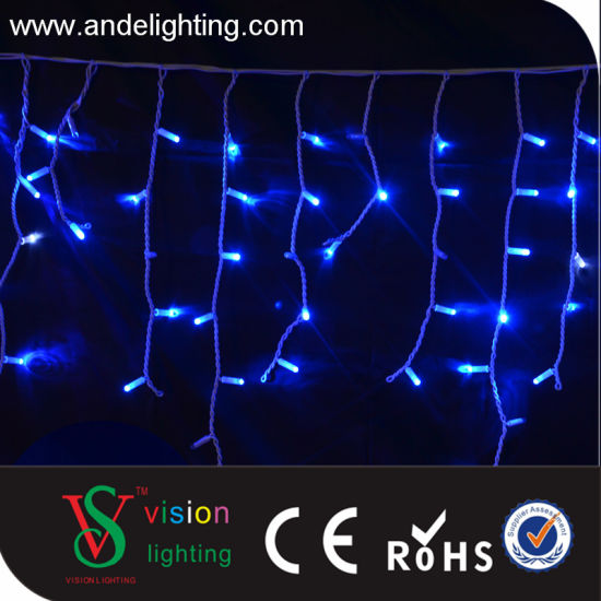 Led Outdoor Christmas Blue Icicle Lights