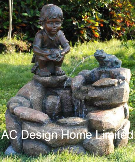 Decoration Stone Look Polyresin Outdoor Garden Water Fountain