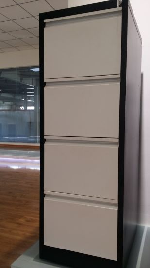 Steel Office Metal Powder Coating Furniture Use Vertical File 4 Drawers Filing Storage Cabinet pictures & photos