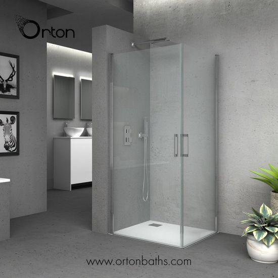Wholesale Bathroom Supplies Frameless Corner Entry Shower Enclosure