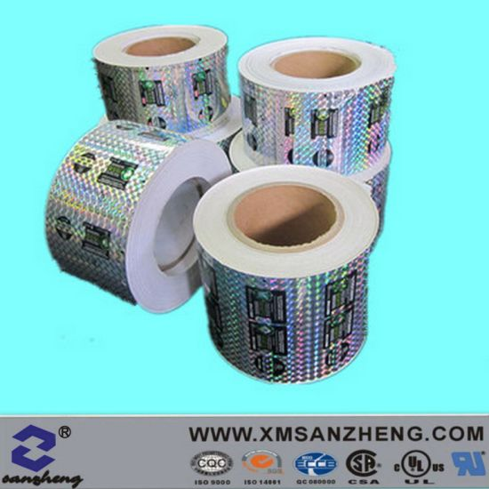 Custom water resistant thermal transfer semi glossy clear hologram stickers
