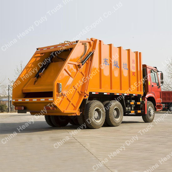 HOWO 6X4 Type of 18m3 Rear Load Garbage Truck (ZZ1257N4641) pictures & photos