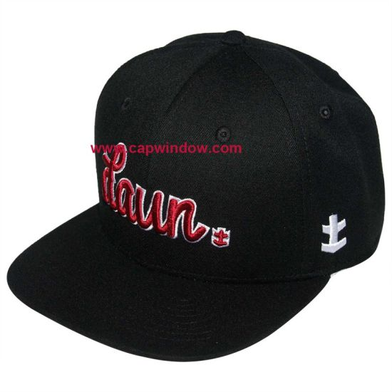 Black Acrylic Snapback Cap Custom Baseball Cap (CW-0770)
