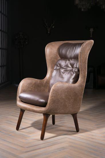 Awe Inspiring High Density Sponge Brown Color Replica Ro Lounge Chair Ncnpc Chair Design For Home Ncnpcorg