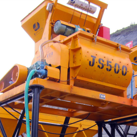 500L Twin Shaft Compulsory Electric Concrete Mixer (Js500) pictures & photos