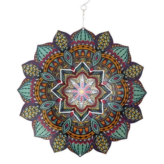 Customized Creative Mandala Wind Spinner for Home and Garden Decor