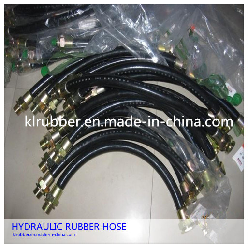 SAE100 R2at/2sn Steel Wire Braided Hydraulic Rubber Hose with Hydraullic Fitting pictures & photos