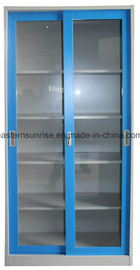 Metal Steel Iron Siling Glass Door Office Use Filing Cupboard/Cabinet pictures & photos