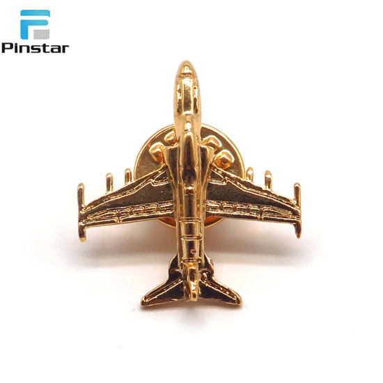 Factory Wholesale Vintage 3D Gold Metal Aircraft Brooch Pin pictures & photos