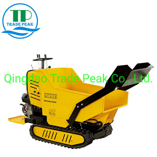Full Hydraulic System Petrol Mini Dumper Qtp500h for Farming