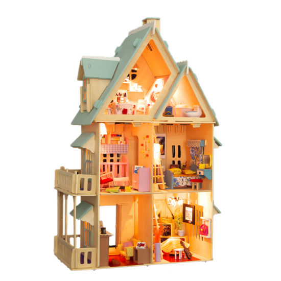 China Diy Wooden Doll House Handmade Wooden Gift For Kids China