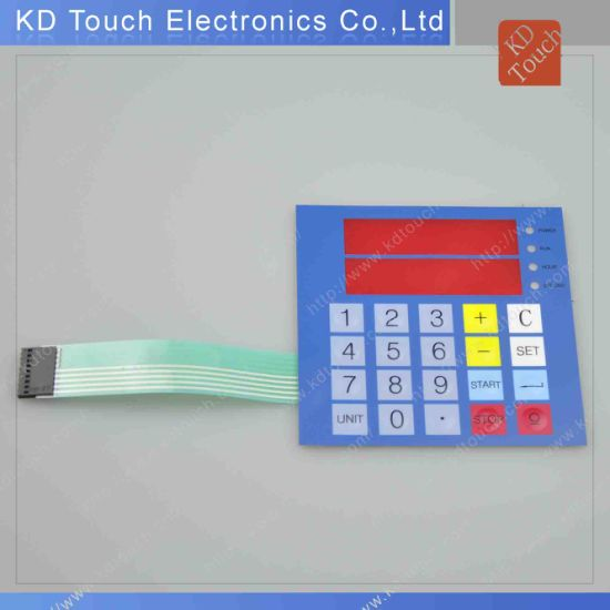 LED Non-Tactile Membrane Switch Keypad with Transparent Window