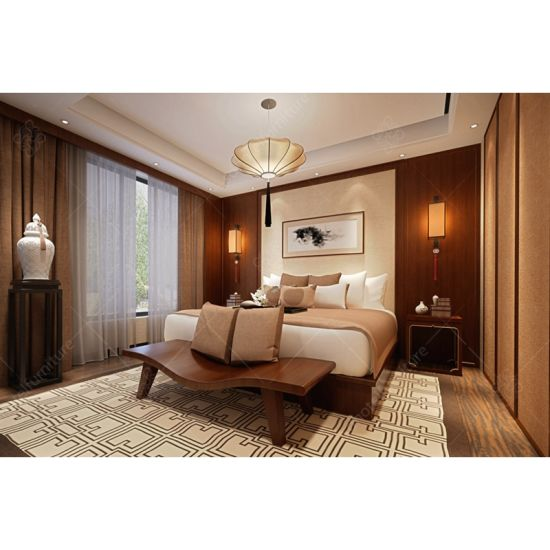 New Chinese Style Hotel Bedroom Set Furniture For Sale