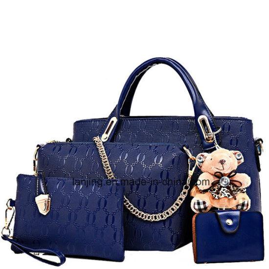 China Wholesale Designer Woman Bag Set 4 Pieces Leather Ladies Bags