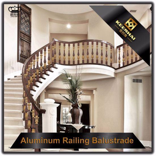 Interior Luxury Aluminum Bronze Handrail For Staircases