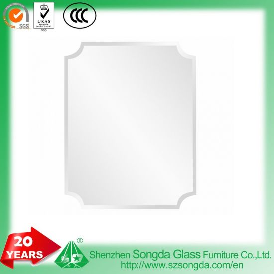 China 6mm Beveled Frameless Mirror Wall Mirror With Hooks Special
