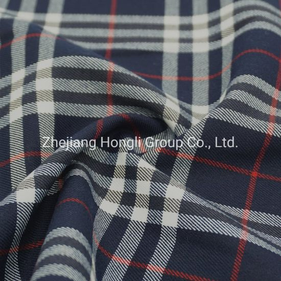 80% Polyester 18% Rayon 2% Spandex Check Stripe #113 Tr Fabric