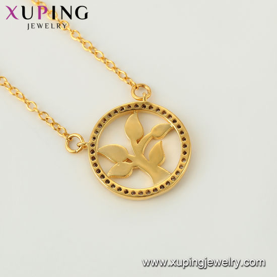 44442 Xuping Fashion Rose Gold Color Neutral Necklace pictures & photos