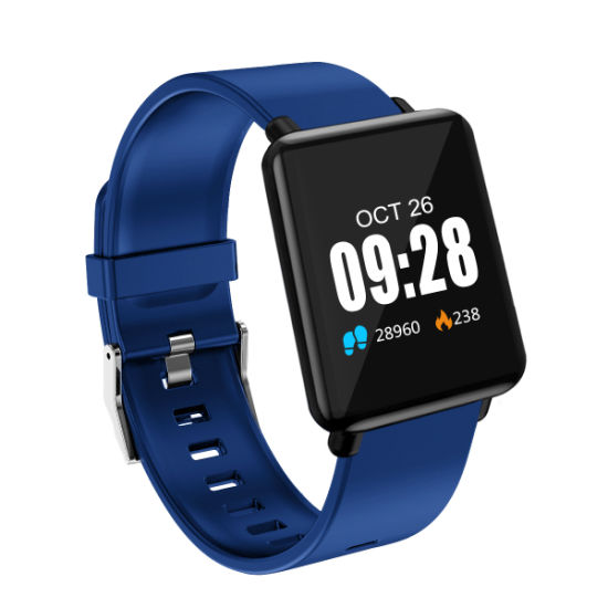 Lower Than USD8/PCS Waterproof Fashion Sport Bluetooth Smart Wrist Watch Bracelet Heart Rate Monitoring for ISO Android