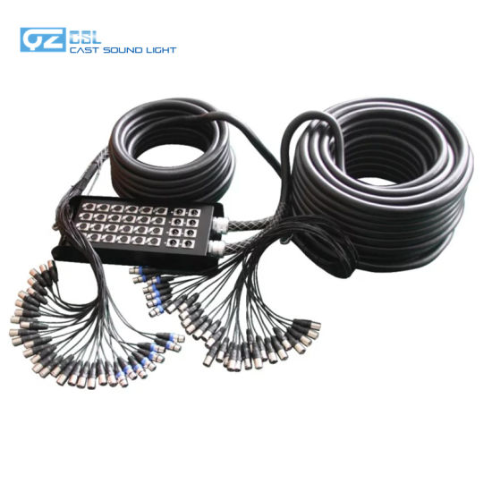 Two Way Audio Control System 32 Channels XLR Snake Cable with Stage Box (40m + 20m) pictures & photos